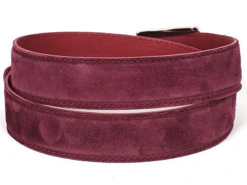 PAUL PARKMAN Men's Purple Suede Belt (ID#B06-PURP) - LIMITLESSXL