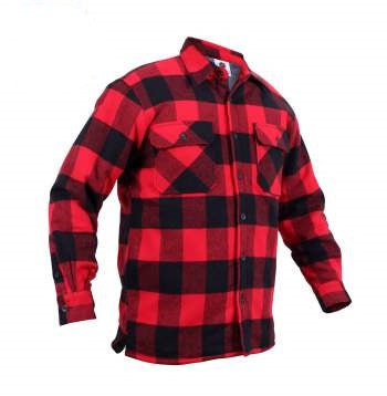 Extra Heavyweight Buffalo Plaid Sherpa-lined Flannel Shirt - LIMITLESSXL