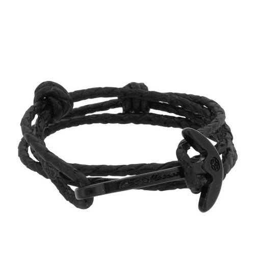 GAETA ANCHOR BIG BLACK BRAIDED LEATHER - LIMITLESSXL