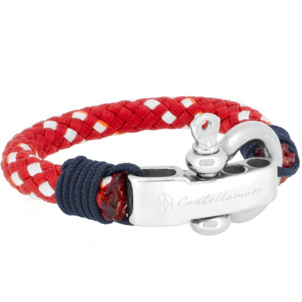 BONASSOLA RED SOLID NAVY STAINLESS STEEL - LIMITLESSXL