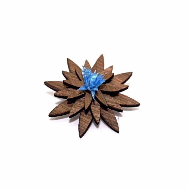 Buffalo Wooden Lapel Pin Flower - LIMITLESSXL
