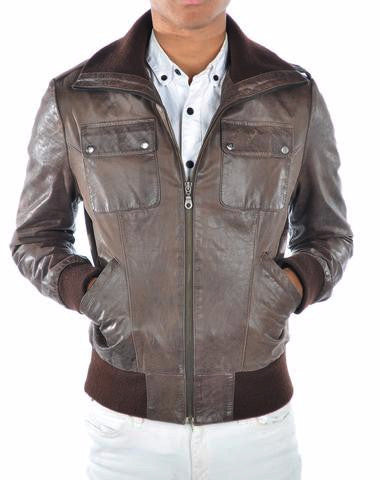 CONNOR DISTRESSED MENS LEATHER JACKET - LIMITLESSXL