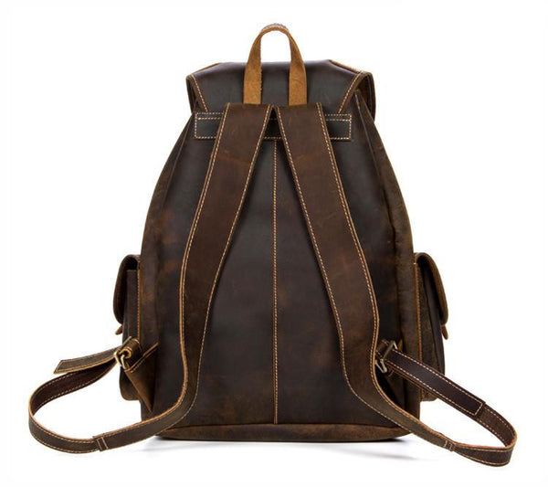 THE LEONARD -LEATHER BACKPACK - LIMITLESSXL