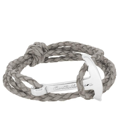 GAETA PIOLET GREY BRAIDED LEATHER - LIMITLESSXL