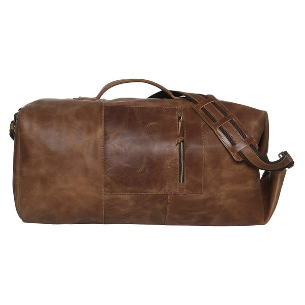 MR JOE - LEATHER MILITARY DUFFLE BAG 24""
