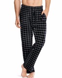 Hanes Men's ComfortSoft® Cotton Printed Lounge Pants Black Plaid