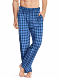 Blue/Navy Hanes Men's ComfortSoft® Cotton Printed Lounge Pants