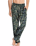 Hanes Men's ComfortSoft® Cotton Printed Lounge Pants Green Camo