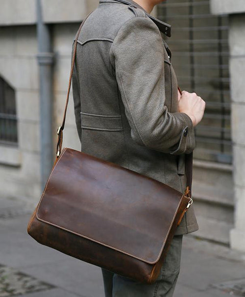 THE JULIAN - LEATHER MESSENGER