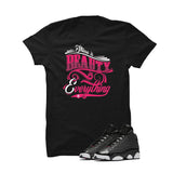 PINK BLACK T SHIRT (BEAUTY)