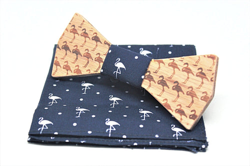 The Flamingo Wooden Bow Tie Diamond