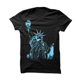 BLACK T SHIRT (LADY LIBERTY) - LIMITLESSXL