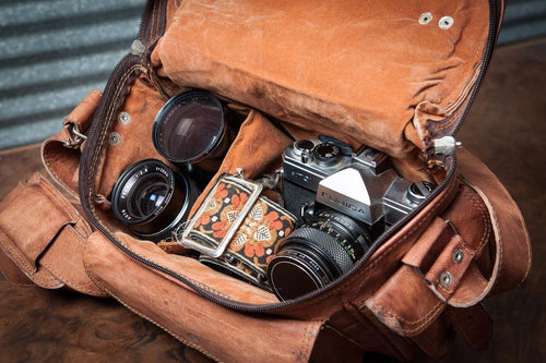 HANDMADE LEATHER CAMERA BAG