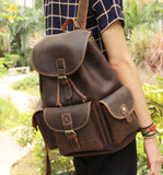 THE LEONARD -LEATHER BACKPACK