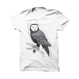 WHITE T (OWL OUTLINE)