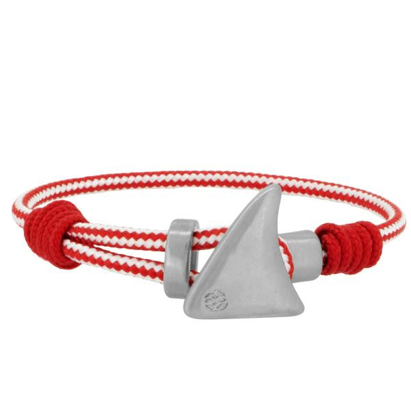 PINNA RED WHITE SHARK FIN