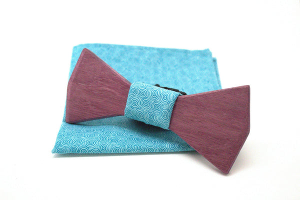 The Joker Diamond Wooden Bow Tie