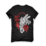 URBAN ALTERNATIVE BLACK T SHIRT (REACH FOR YOUR PEACE)