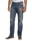 Loose Fit Washed Look 5 Pocket Jeans