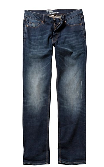 Destroyed Effect Straight Fit Jeans - LIMITLESSXL