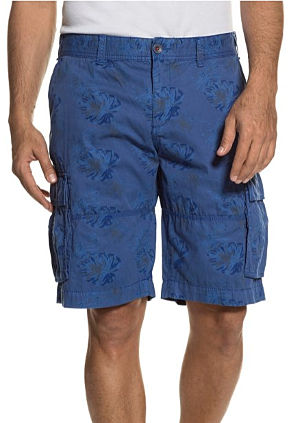 Floral Print 4 Pocket Cotton Cargo Shorts - LIMITLESSXL