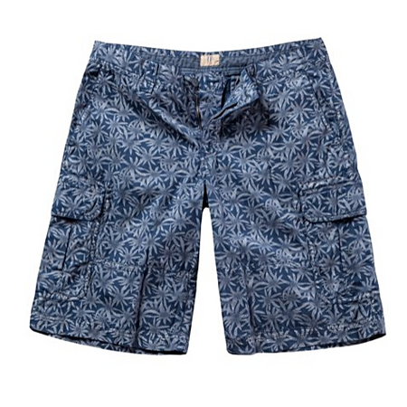 Denim Jogger Bermuda Knit Cotton Stretch Shorts