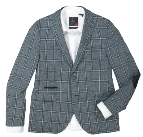 Jacket, trendy checked, linen