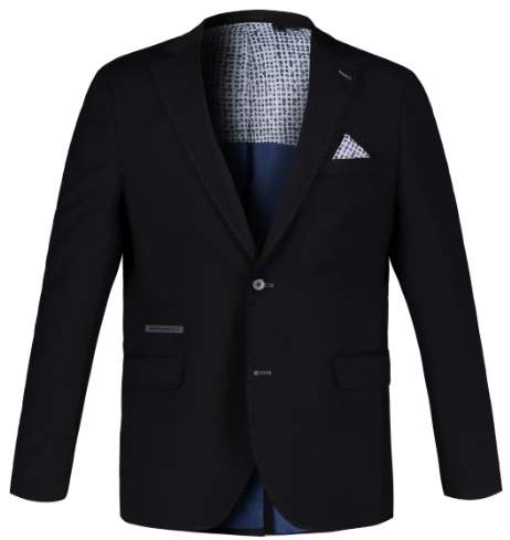 Pick Stitch Accent Lined Blazer