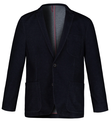 Sweat blazer, denim-look, reversible colar, lining