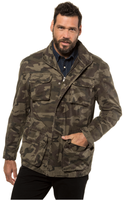Camouflage Lined Cotton Jacket