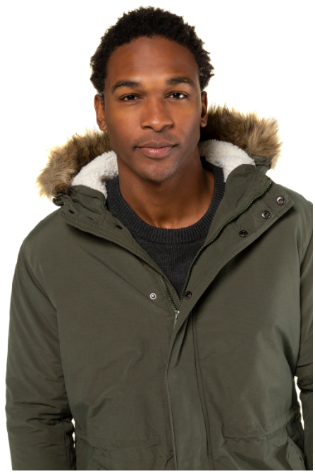 Fur Trim Hooded Jacket