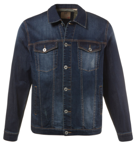 Denim Fade Wash Stretch Jacket