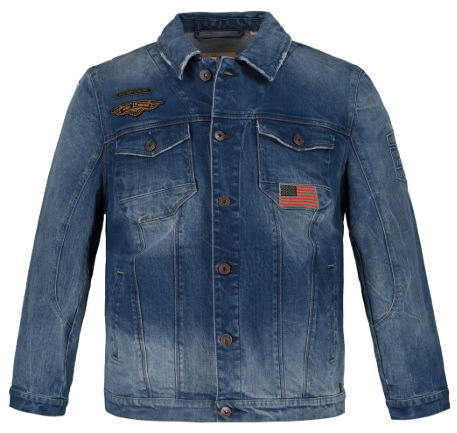 Military Patch Denim Jacket