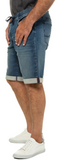 Denim Bermuda Knit Cotton Stretch Shorts