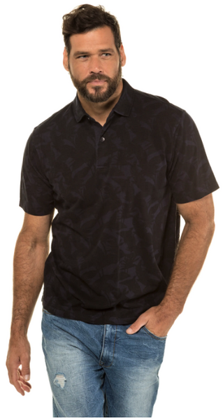 Jungle Pattern Cotton Polo Shirt
