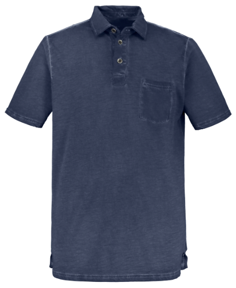 Cold Dyed Cotton Polo Shirt
