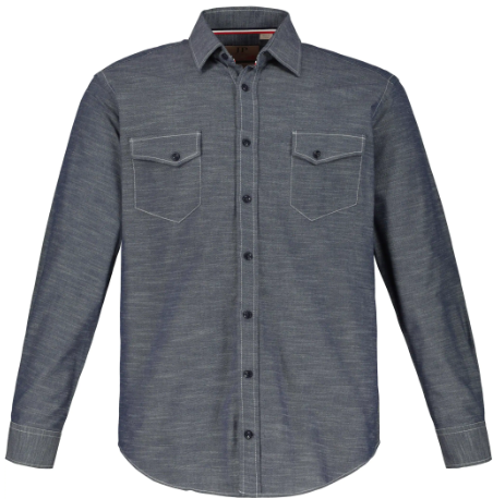 Two-Tone Denim Modern Fit Shirt