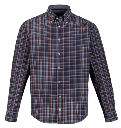 Checked Shirt (Brown)