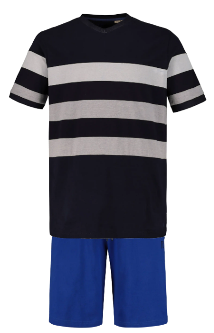 Stripe Knit Cotton Shorty Pajama Set