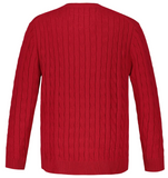 Classic Cable Knit Cotton Sweater