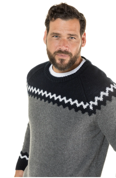 Zig Zag Crew Neck Sweater
