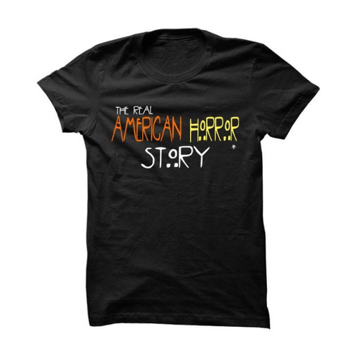 HALLOWEEN FOAMPOSITE BLACK T SHIRT (AMERICAN HORROR STORY)