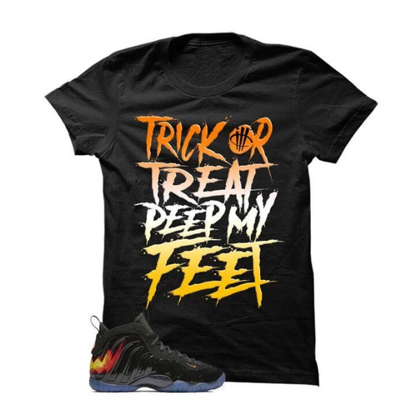 HALLOWEEN FOAMPOSITE BLACK T SHIRT (TRICK OR TREAT)
