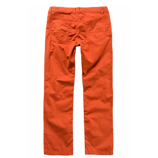 Regular Fit 5 Pocket Elastic Waist Cotton Twill Pants