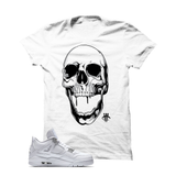 WHITE T SHIRT (SKULL DROOL)