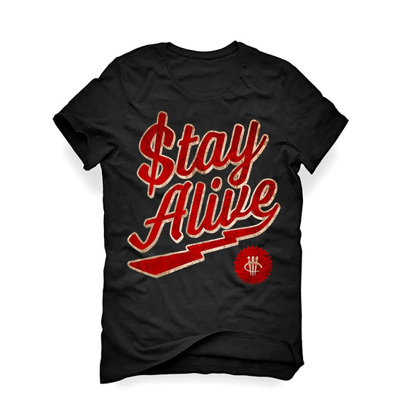 URBAN ALTERNATIVE BLACK T SHIRT (STAY ALIVE)