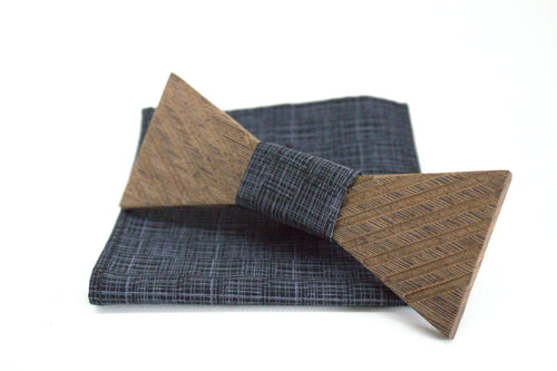The Morphy Triangular Wooden Bow Tie