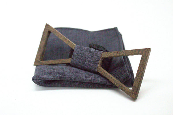 The Morphy Hollow Triangular Wooden Bow Tie