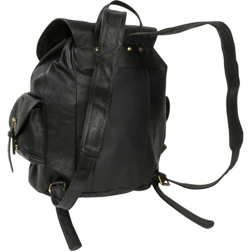 THE CONNOR - BLACK LEATHER  BACKPACK