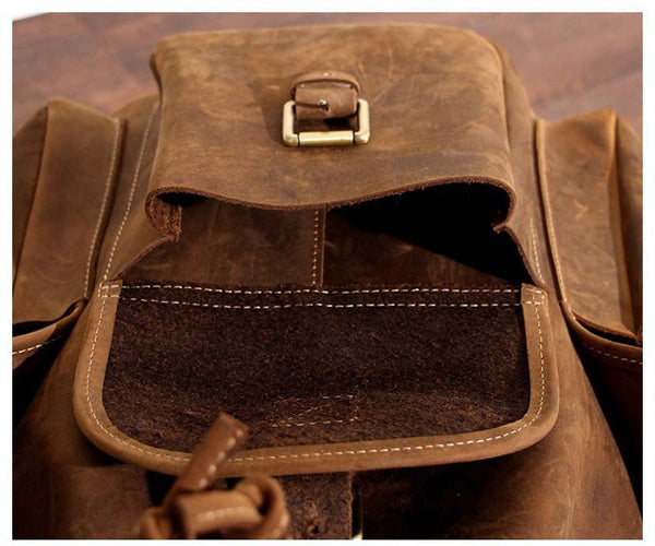 THE EVEREST - LEATHER HIKING BACKPACK